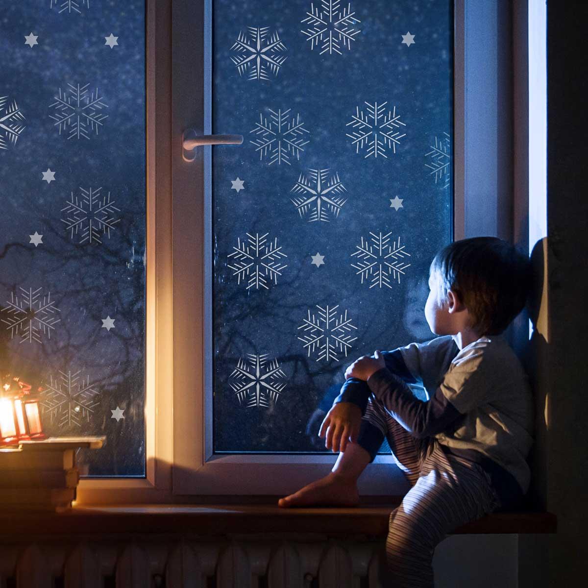 gwiazdki, śniezynki, szablon malarski