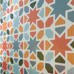 Szablon malarski Maure wizualizacja kolor na ścianie