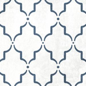 Szablon malarski Marrakech - czarno-biały