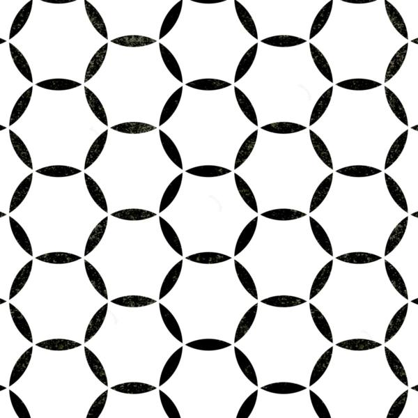 Koła modern - szablony malarskie - wizualizacja czarno-biała