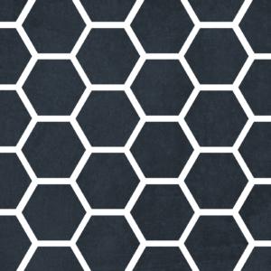 Szablon malarski Hexagon - czarno-biały