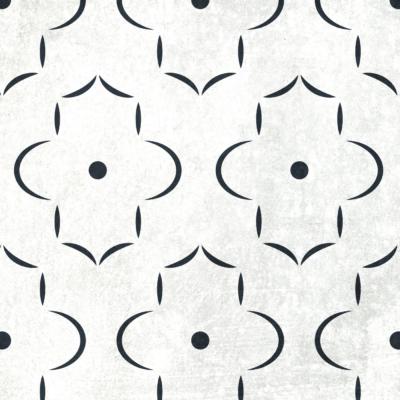 Szablon malarski Marrakech 4 - czarno-biały