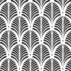 Szablon malarski - Tamara Palm - czarno-biały obraz