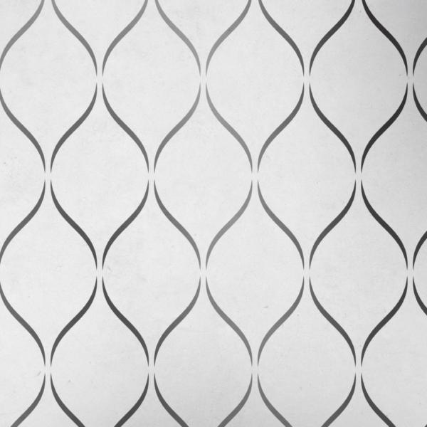 Szablon malarski - Sensual = ciemny wzór na jasnym tle