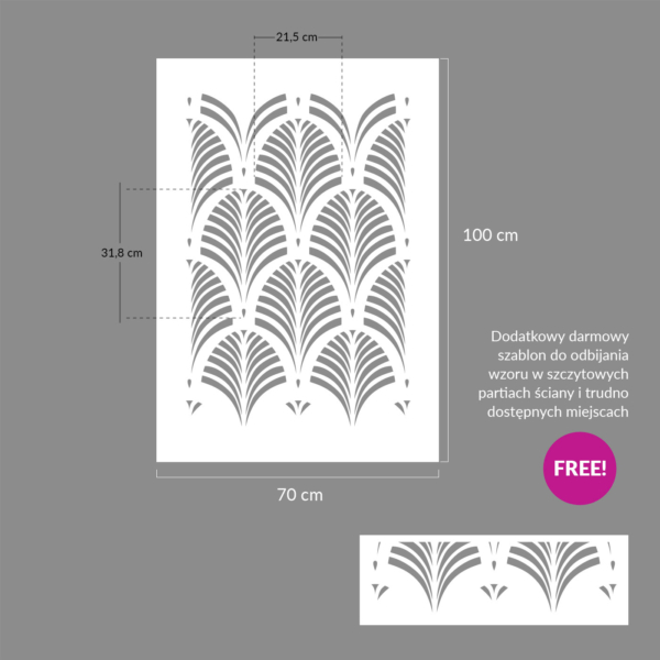 Szablon malarski - Tamara palm - rozmiary