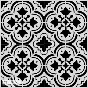 Szablon malarski Cardena - wizualizacja czarno biała
