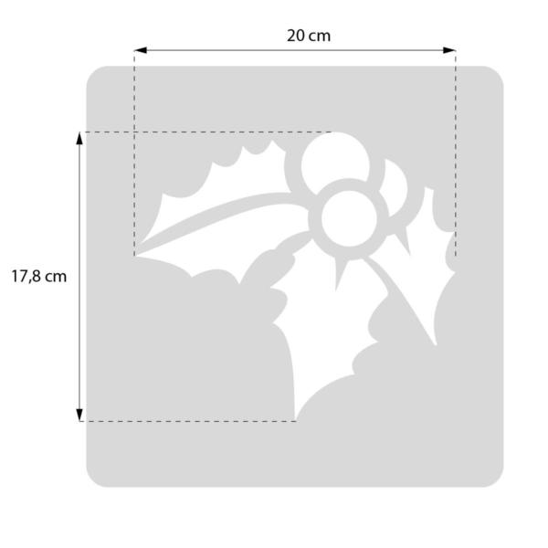 Bałwan - szablon malarskie wielokrotnego użytku, rozmiary szablonu malarskiego wielokrotnego użytku