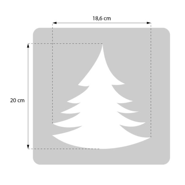 Choinka - świąteczny szablon malarskie wielokrotnego użytku - rozmiary
