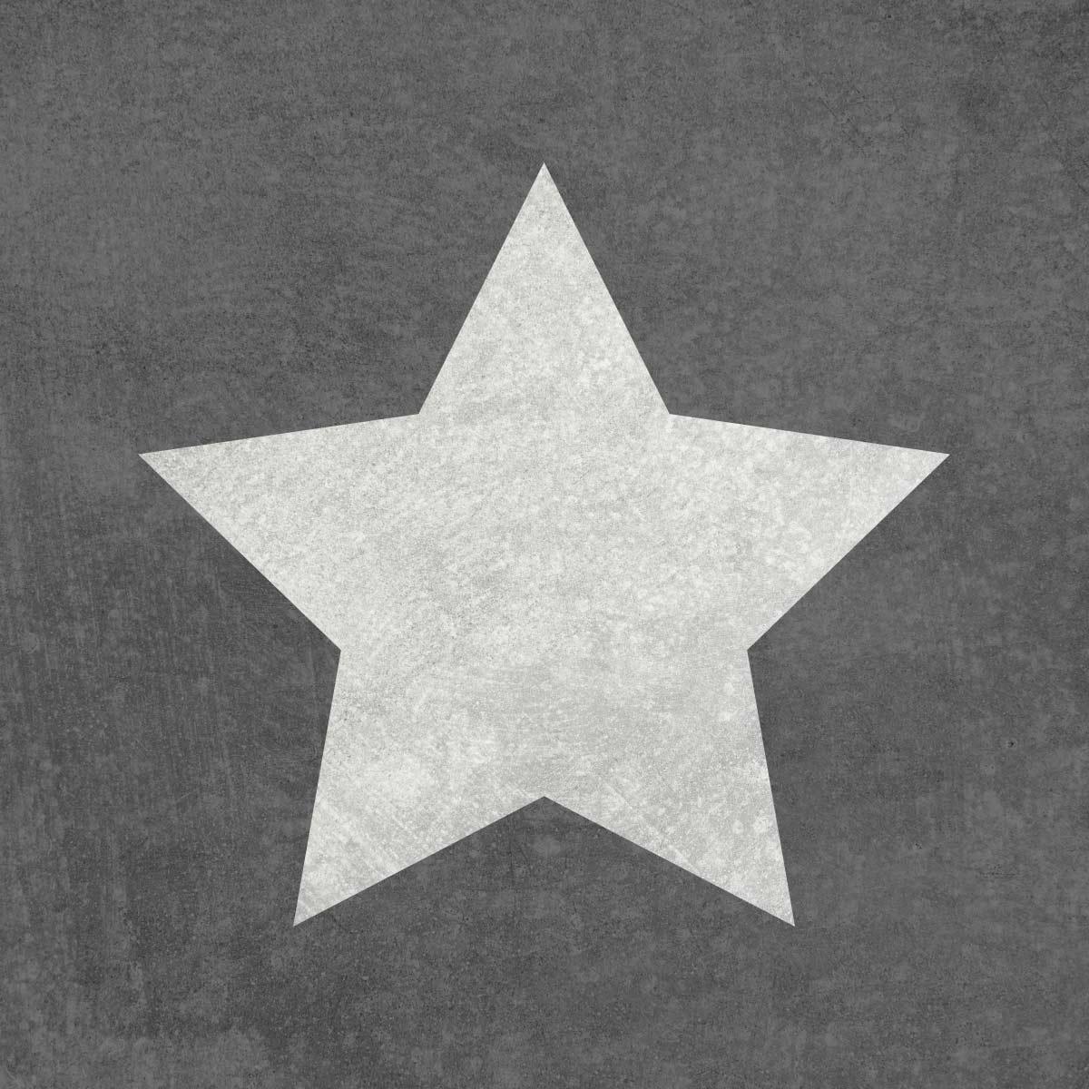 Gwiazdka - świąteczny szablon malarskie wielokrotnego użytku, wizualizacja na ciemnym tle