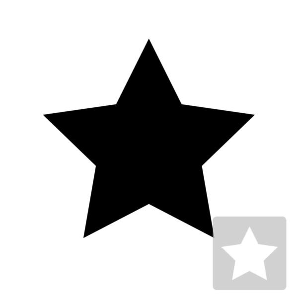 Gwiazdka - świąteczny szablon malarskie wielokrotnego użytku, wizualizacja czarno-biała
