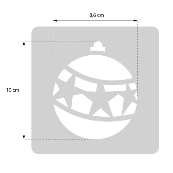 Bombka- świąteczny szablon malarskie wielokrotnego użytku - rozmiary