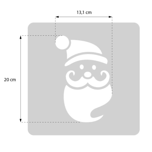 Święty Mikołaj - świąteczny szablon malarskie wielokrotnego użytku - rozmiary