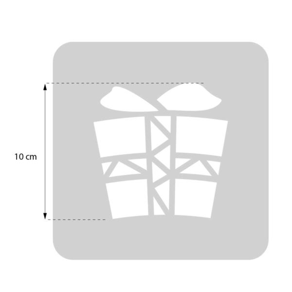 Prezent - świąteczny szablon malarskie wielokrotnego użytku - rozmiary