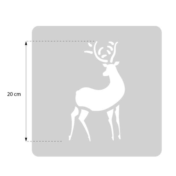 Renifer - świąteczny szablon malarskie wielokrotnego użytku - rozmiary