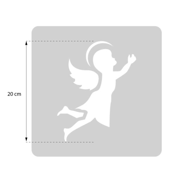 Aniołek - świąteczny szablon malarskie wielokrotnego użytku - rozmiary