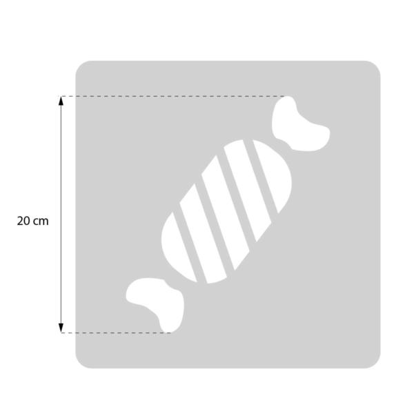 Cukierek - świąteczny szablon malarskie wielokrotnego użytku - rozmiary