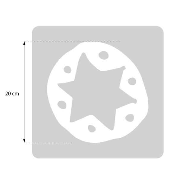Gwiazdka - świąteczny szablon malarskie wielokrotnego użytku - rozmiary
