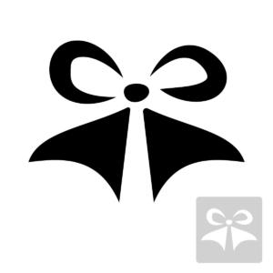 Kokarda - świąteczny szablon malarskie wielokrotnego użytku, wizualizacja czarno-biała