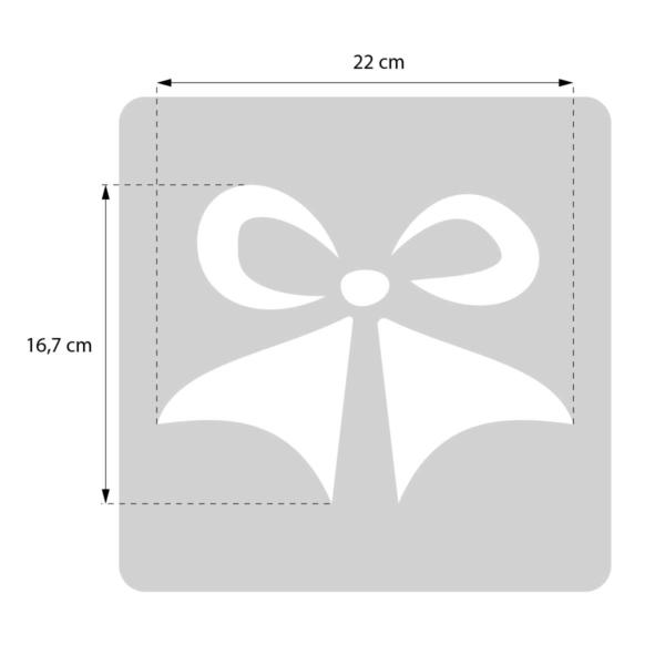 Kokarda - świąteczny szablon malarskie wielokrotnego użytku - rozmiary