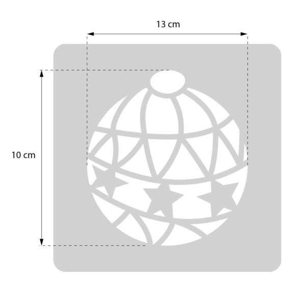 Bombka - świąteczny szablon malarskie wielokrotnego użytku - rozmiary
