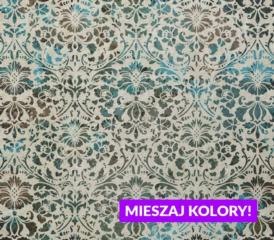 Szablon malarski Renesso - wzór powtarzalny kolorowy