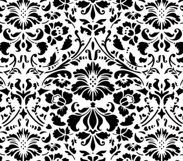 Szablon malarski Renesso - wzór czarno-biały