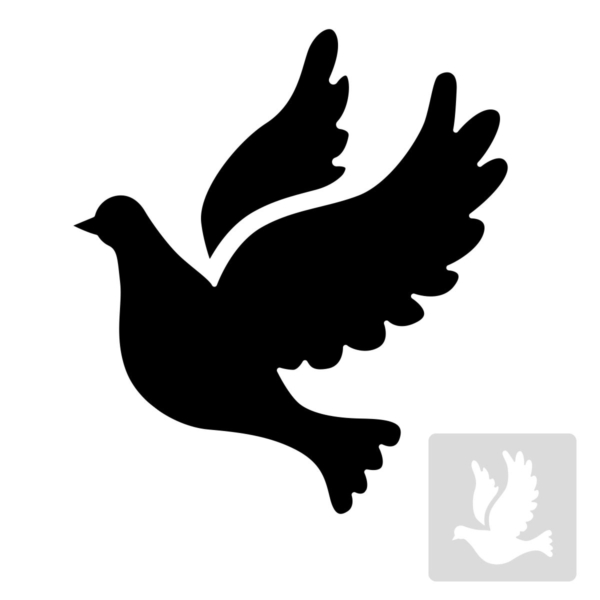 gołąbek - szablon malarskie wielokrotnego użytku, czarno-biały