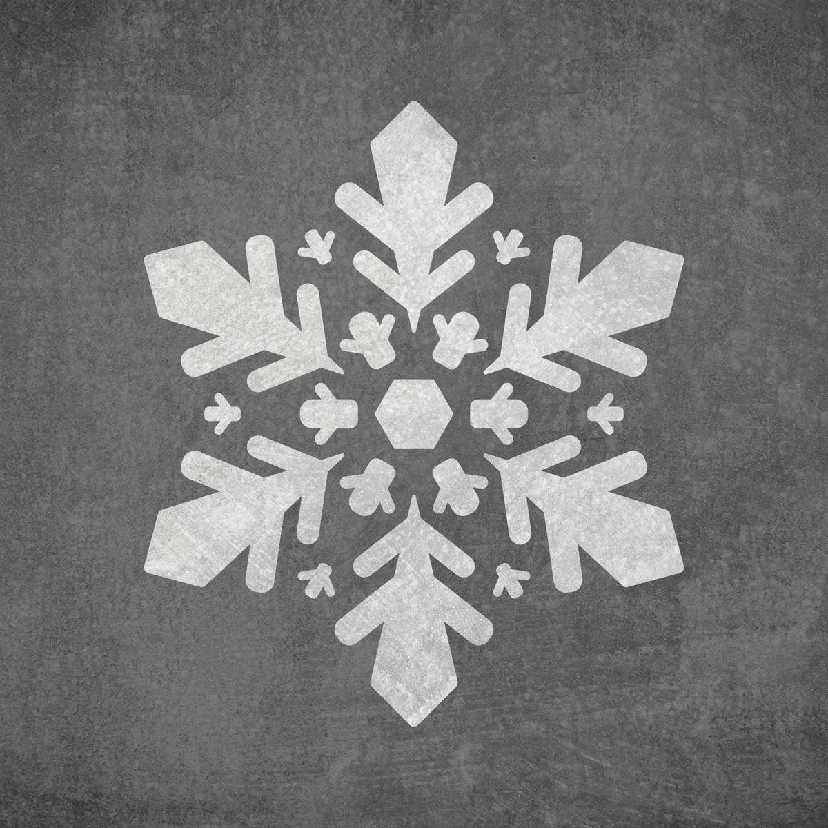 Śnieżynka - szablon malarski wielokrotnego użytku