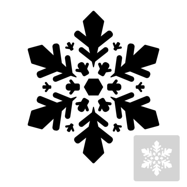 Śnieżynka - szablon malarski wielokrotnego użytku- czarno-biały