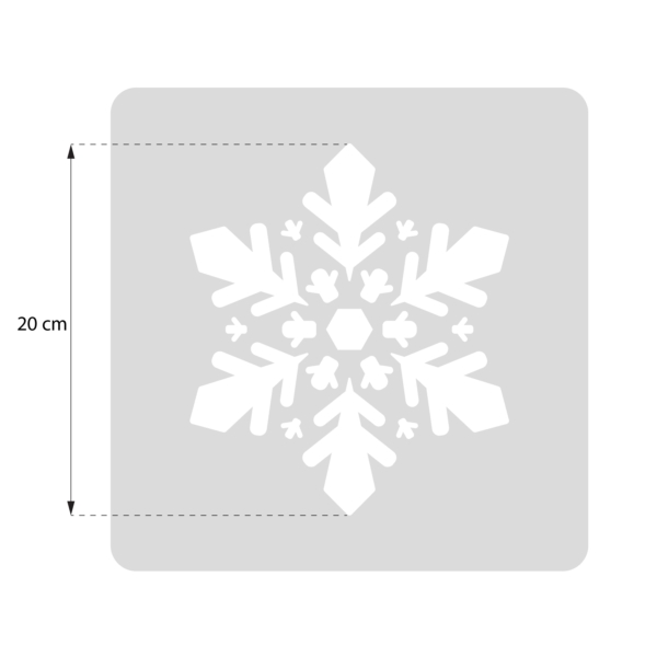 Śnieżynka - szablon malarski wielokrotnego użytku - rozmiary