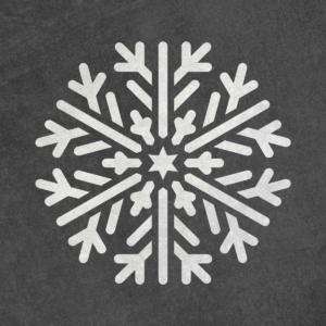 Płatek śniegu - świąteczny szablon malarskie wielokrotnego użytku, wizualizacja na ciemnym tle