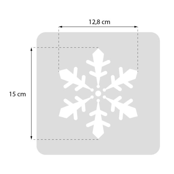 Płatek śniegu - świąteczny szablon malarskie wielokrotnego użytku - rozmiary