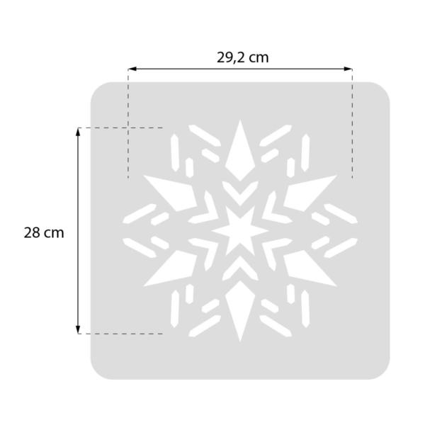 Płatek śniegu, śnieżynka - świąteczny szablon malarskie wielokrotnego użytku - rozmiary
