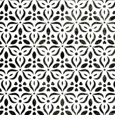 Szablony malarskie - Miranda - wzór czarno-biały