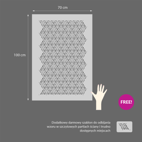 Szablony malarskie - Miranda - wzór powtarzalny rozmiary