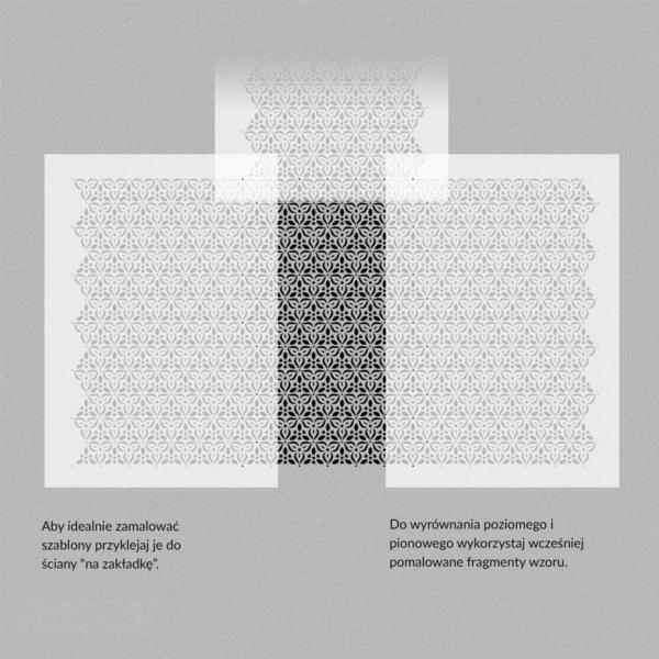 Szablony malarskie - Miranda - wzór powtarzalny - nakładanie