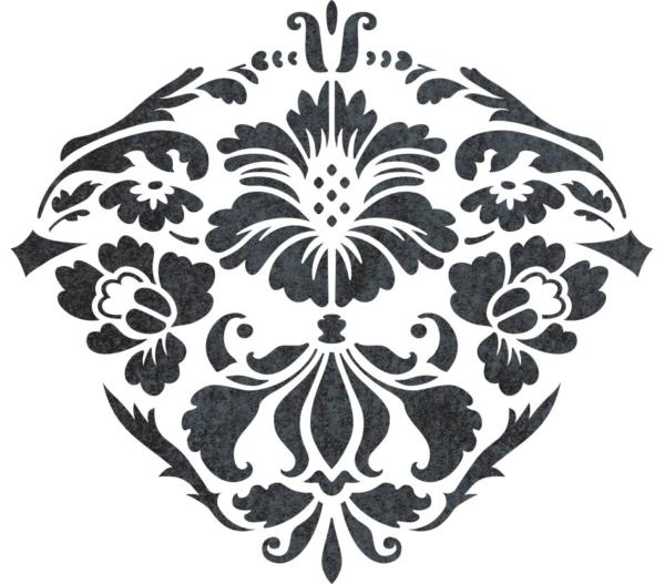 Renesso Dekor - szablony malarskie - wizualizacja czarno-biała