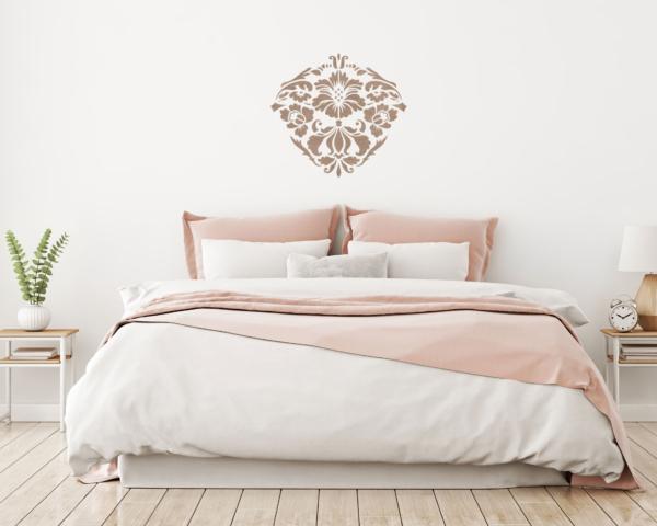 Szablony malarskie - Renesso Dekor - wzór powtarzalny kolorowy, sypialnia, wizualizacja