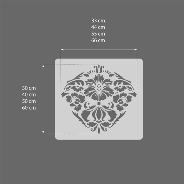 Renesso Dekor - szablony malarskie - rozmiary